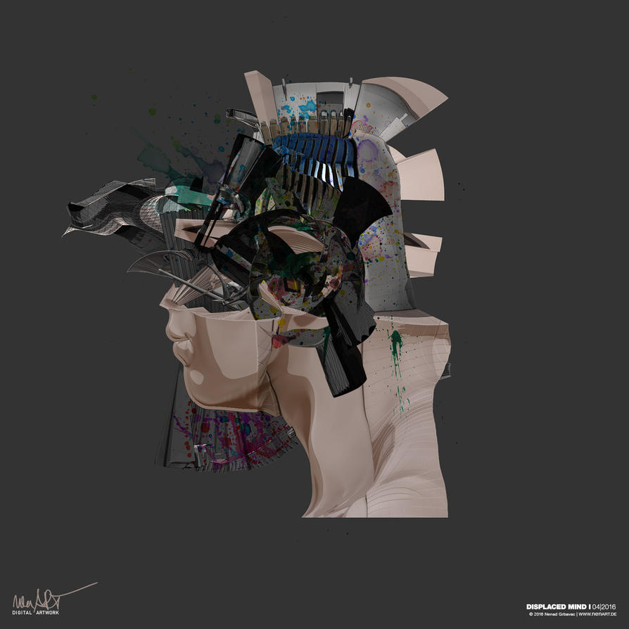 Displaced Mind I by nenART