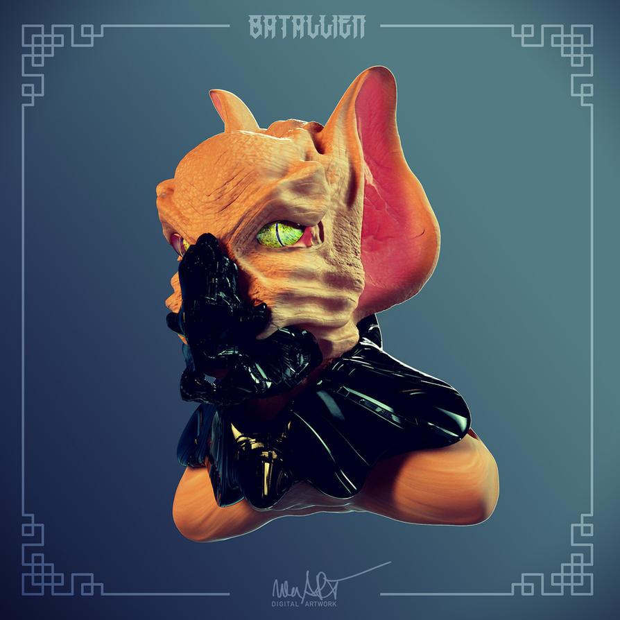 BatAllien by nenART