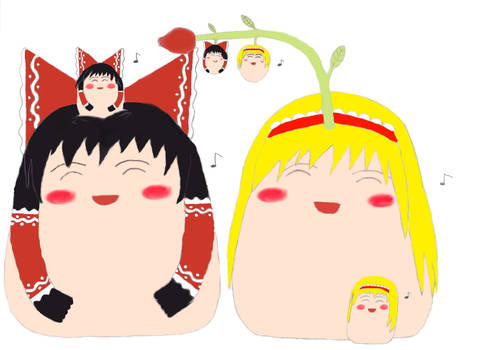 Reimu's and Alice's family.
