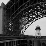 Lighthouse under the bridge 2