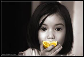 an orange a day ... by escrimador