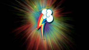 MLP:fiM Rainbow dash cutie mark wallpaper