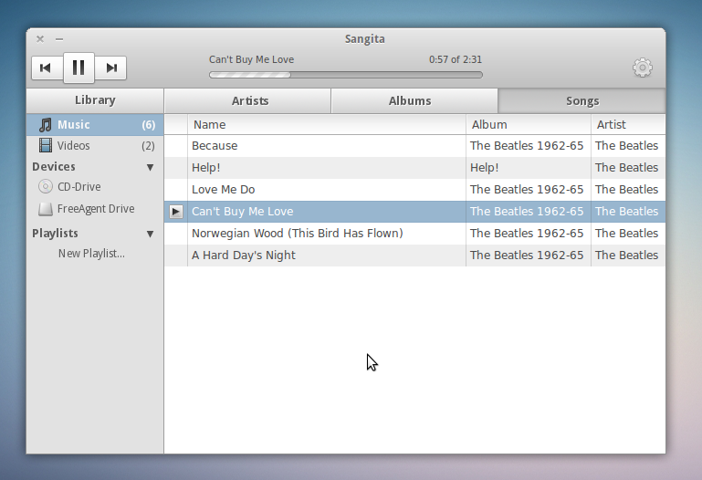 Sangita - Linux Music Player by awhite92 on DeviantArt