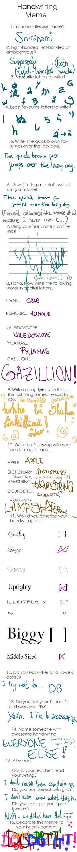 Handwriting meme by Shiranami