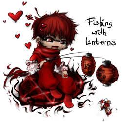 Gaia Avatar Art - Mine - Fishing with lanterns