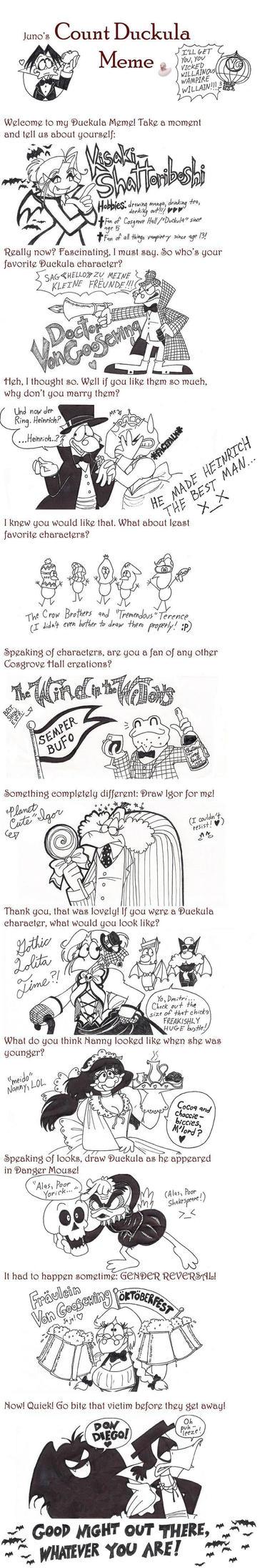 Count Duckula Meme by Kisaki-Shattoriboshi