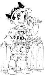 Astro Boy Fence Builder Commission