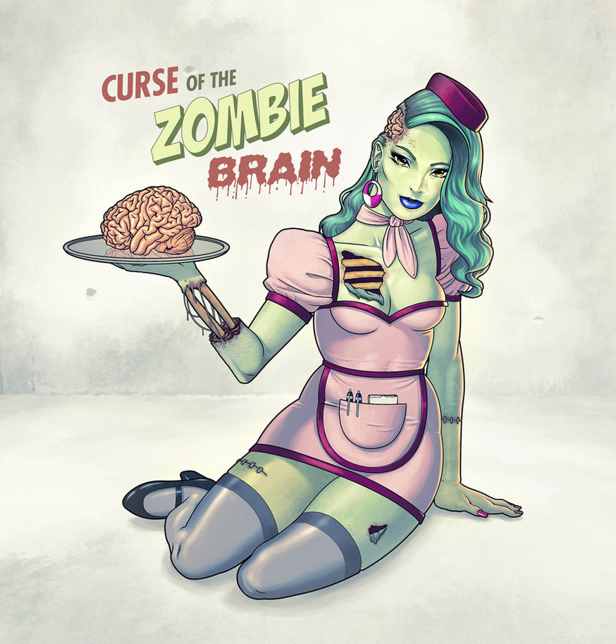 Zombie Pin-Up Girl by Mo-ninja