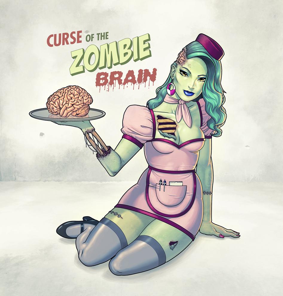 Zombie Pin-Up Girl by Mo-ninja on DeviantArt