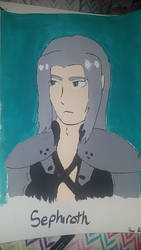 Sephiroth Painting by PiplupAdventures