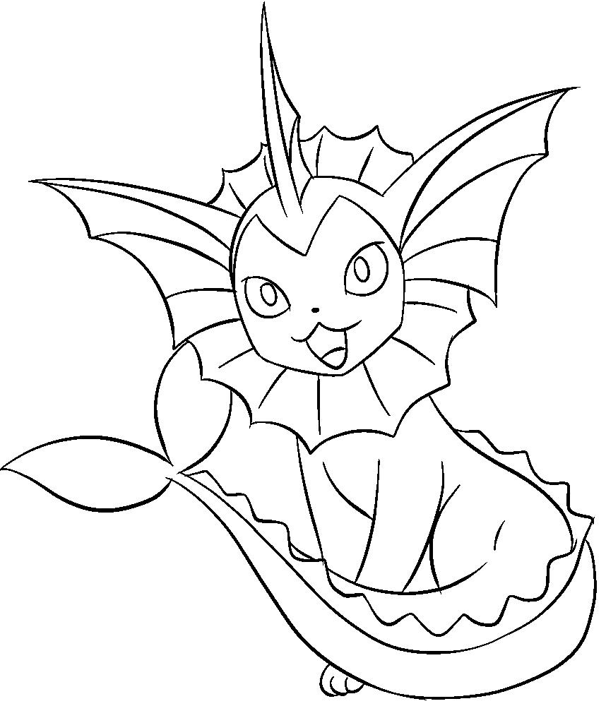 134 Vaporeon Lineart by lilly-gerbil on DeviantArt