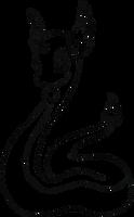 148 Dragonair Lineart by lilly-gerbil