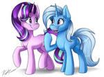 Starlight Glimmer and Trixie redraw