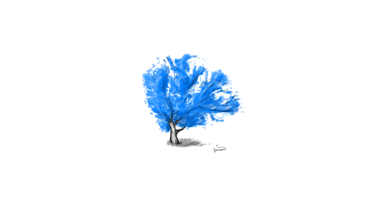 Blue Tree by JanmanX