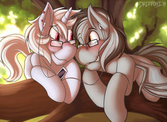 Snuggling In A Tree by Lattynskit