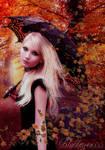 ' Autumn leaf fall ' by Blackmoons32