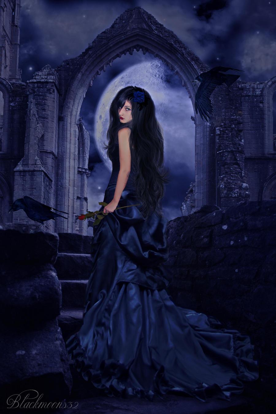 """ Lady moon "" by Blackmoons32 on DeviantArt"
