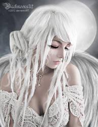Sad angel by Blackmoons32