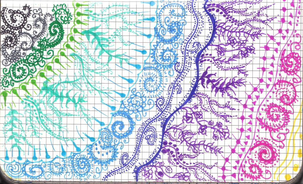 Rainbow Henna Design by clodhopping13 on DeviantArt