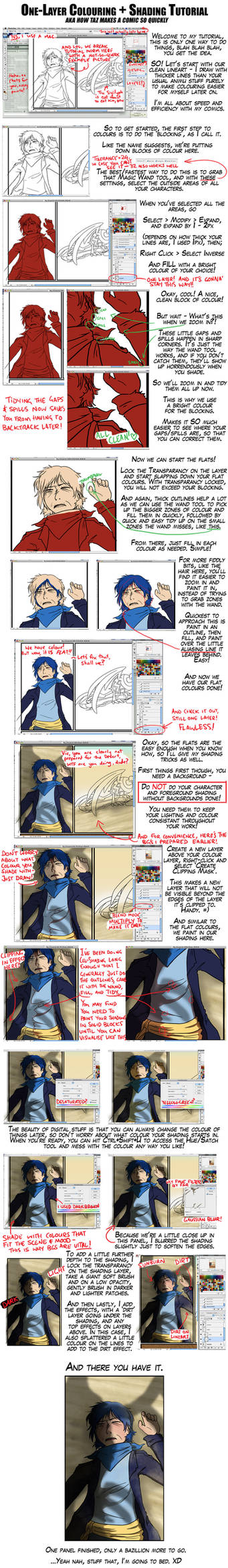 One-Layer Colour + Shading Tutorial