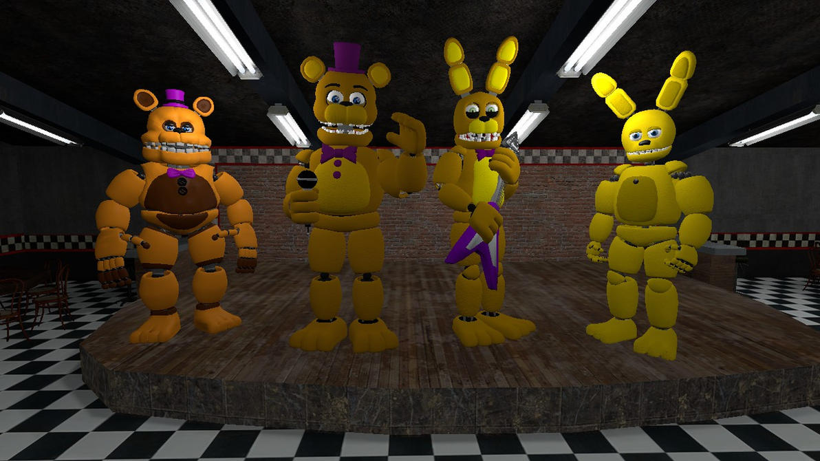Fredbear 39 s family diner animatronics by maskedknight on for Family diner