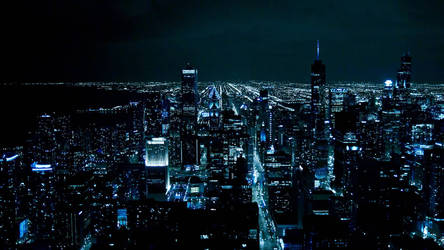 Chicago lights at night by MisterAwesomeness