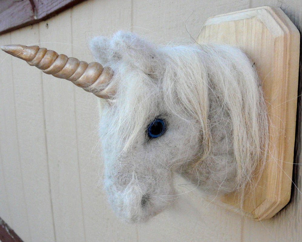 Favorite Needle felted Unicorn Faux taxidermy head mount by  EO96