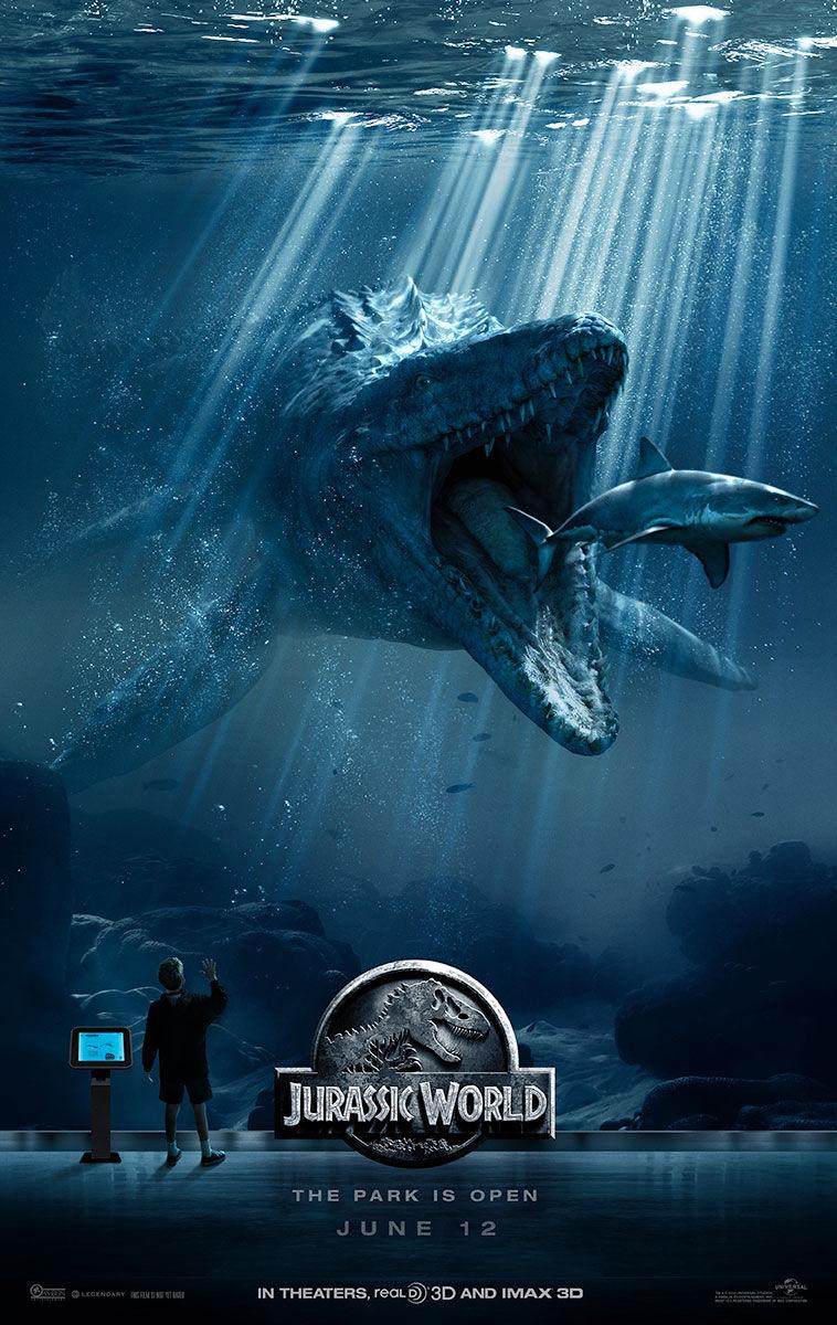 Jurassic-world-poster-mosasaurus by TheChitinousTeen