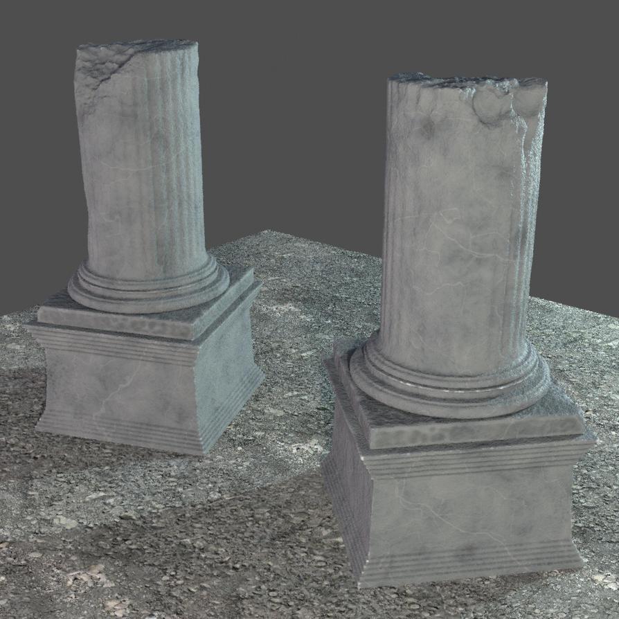 Broken Stone Pillar : Stone broken pillar sj jan by cjiminy on deviantart
