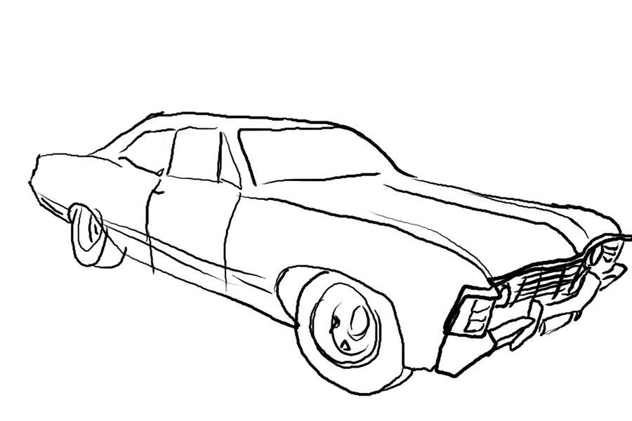 1967 chevy impala sketch templates