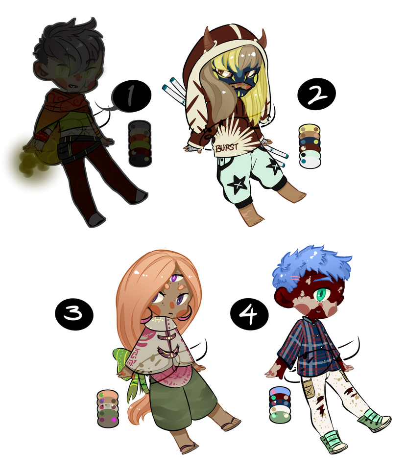 Some Adopts (OPEN 3/4) by SockstheInkDude