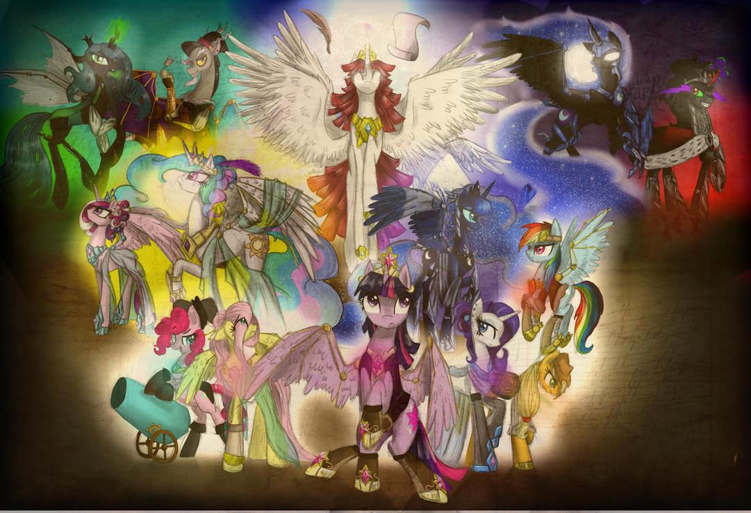 My Little Steampunk Pony - Friendship is Magic! by Alice4444DM