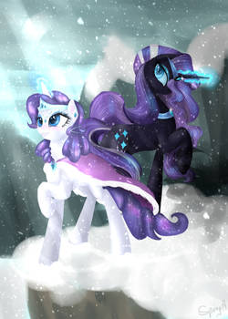 Snow, Crystals, Lights and Shadows