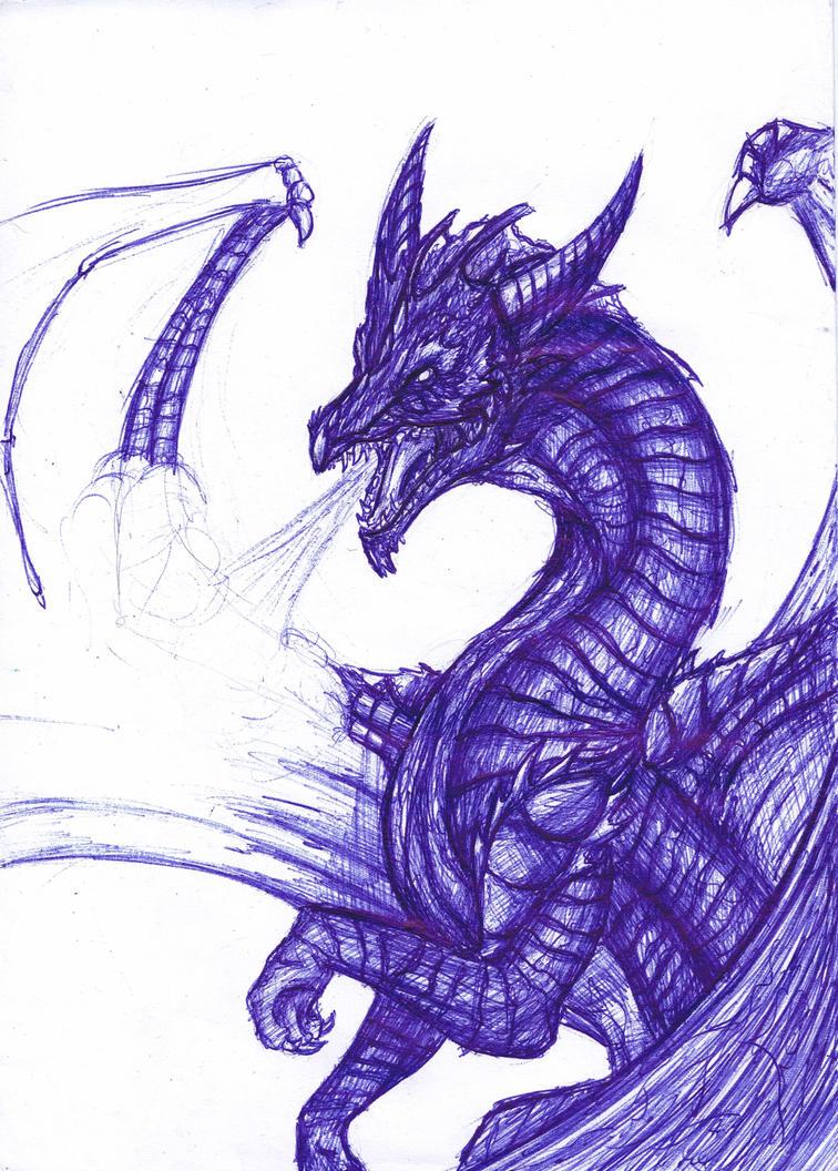 Ballpen Dragon by Alice4444DM