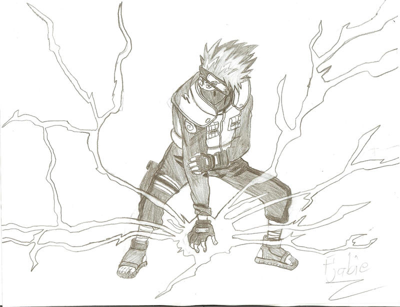 Kakashi Chidori by Fjabie on DeviantArt