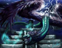 Quetzalcoatl by wimzicle