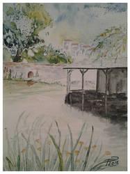 St Leger watercolor by necromencion