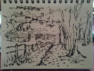 sketch land by necromencion