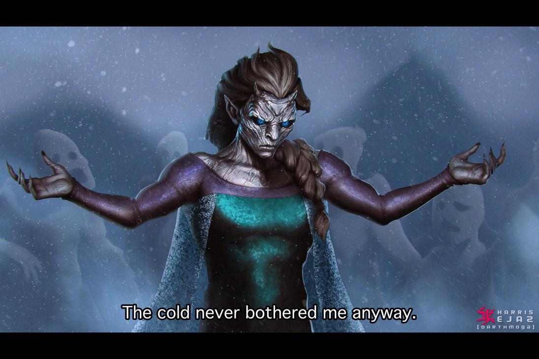 White Walker - Night King Elsa by DarthMoga