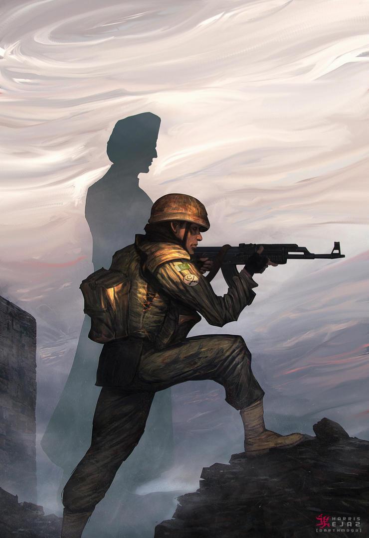 Soldier and Quaid by DarthMoga