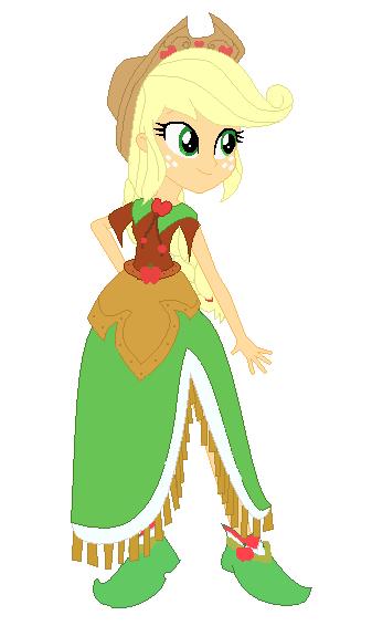 applejack equestria girl gala dress by princesslunalove