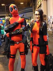 Lady deadpool and Deadpool!