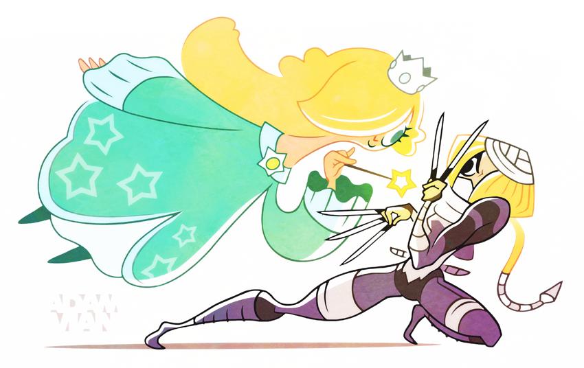 Princess Brawl 2 - Rosalina and Sheik by FlashBros