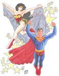 Superman and Wonder Woman By Adam Hughes