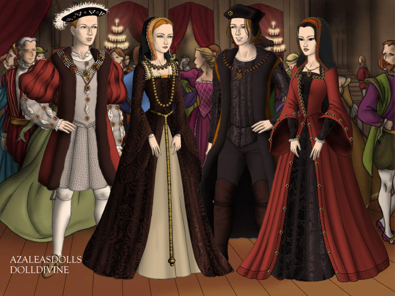 Henry VIII, Catherine, Philip and Joan by Nurycat