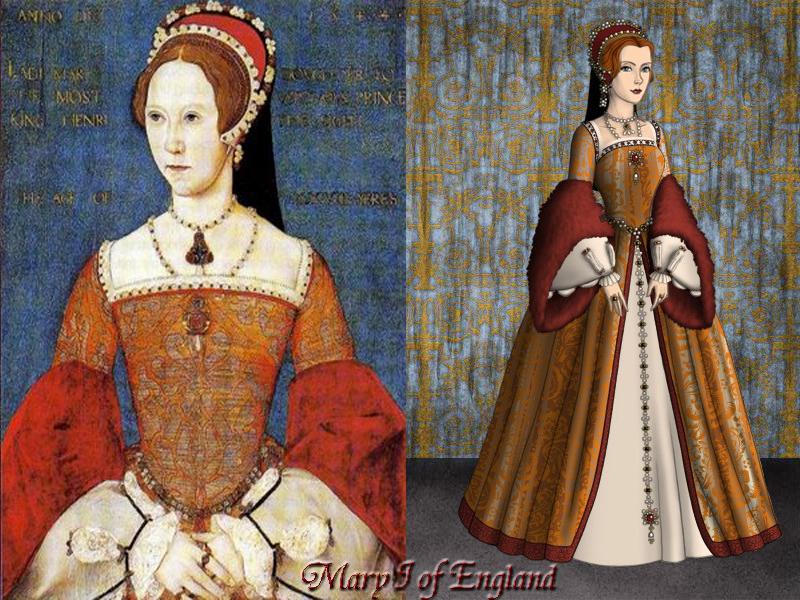 Mary Tudor, Queen of England by Nurycat