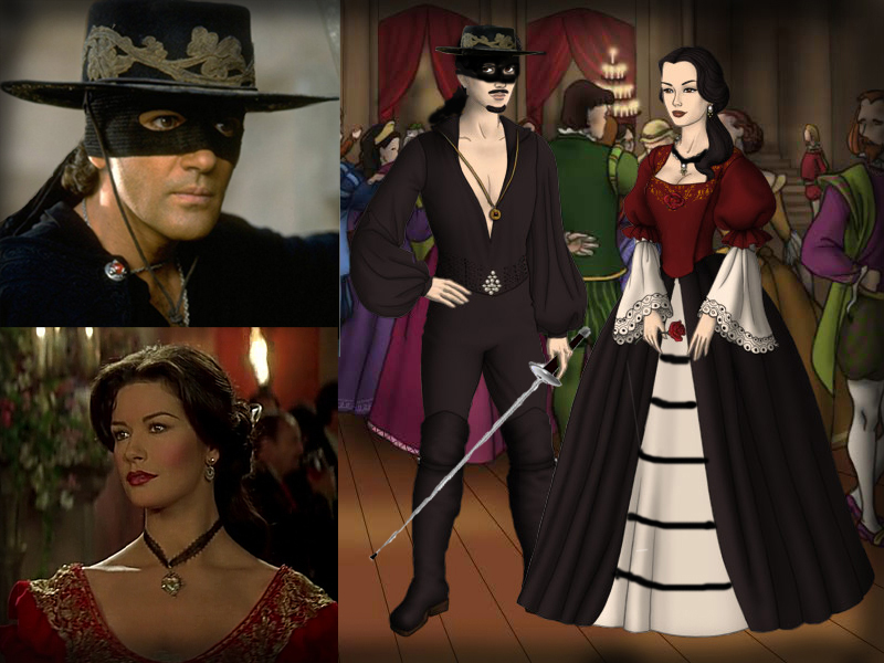 The Mask of Zorro- Alejandro and Elena by Nurycat on DeviantArt