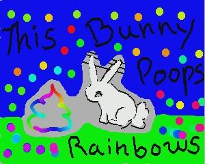 This Bunny Poops Rainbows by xxHanashimaxx