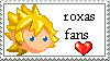 roxas fan stamp by kingdom-hearts-lover