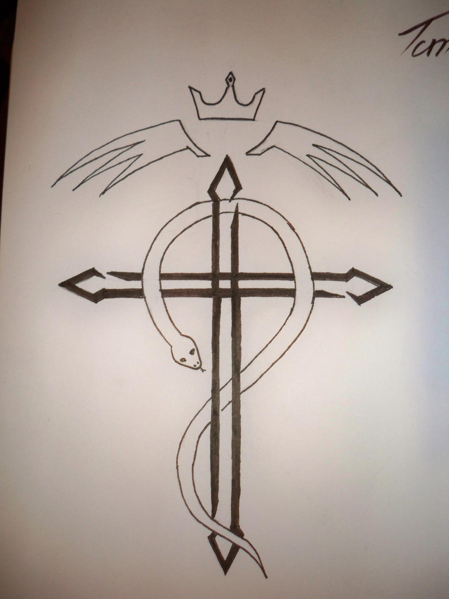 fullmetal flamel cross tattoo by walterthathers on deviantart. Black Bedroom Furniture Sets. Home Design Ideas